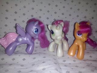 3 Pequeños Pony Hasbro Miden De Alto 7 Cm En Buen Estado