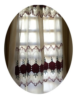 Cortinas Casatex Embroidery Doble Paño C/ Faldon