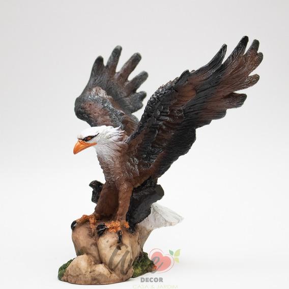 Aguia Estatua Decoração Resina Poder Escultura 17,5 Cm