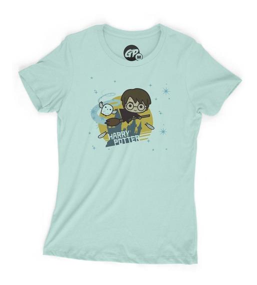 Playera Grapics Harry Potter Chibi Geek Dama