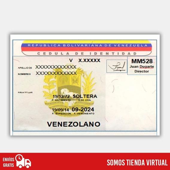 Formato De Cédula Venezolana