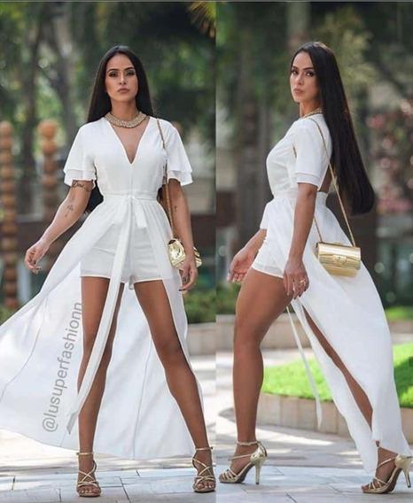 Vestido Macaquinho Off Moda Femininaverão 2020 Frete Grátis