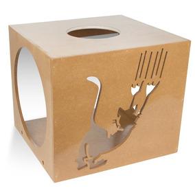 Nicho Quadrado Scratch Para Pet Gatos Natural - 7030 Carlu