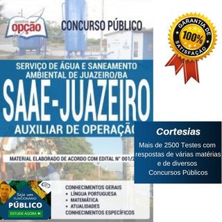 Apostila Auxiliar De Operação Saae Juazeiro Bahia
