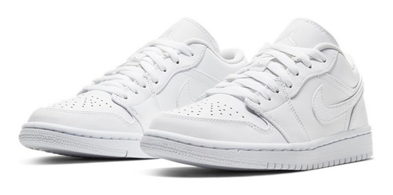 Tenis Nike Air Jordan 1 Low Feminino W Branco Triple White