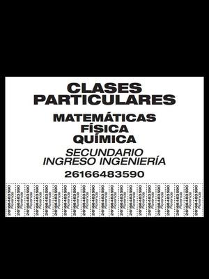 Clases Particulares Matemáticas - Física - Química