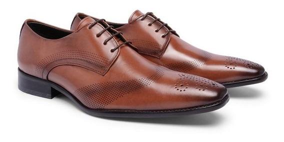 Sapato Social Masculino Oxford Couro 23121 - Frete Grátis
