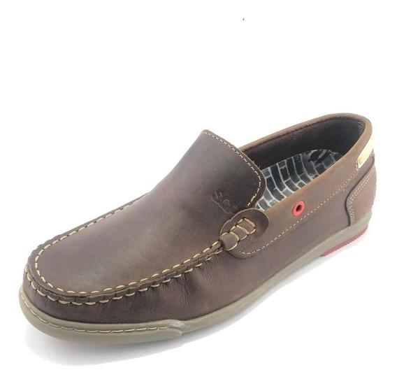 Zapato Náutico Marrón Y Azul Grand Siena - Scarpino