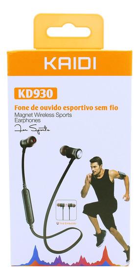 Fone De Ouvido Intra Auricular Bluetooth Kaidi Kd930