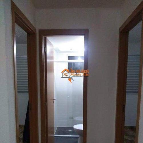 Apartamento Com 2 Dormitórios À Venda, 44 M² Por R$ 190.900,00 - Água Chata - Guarulhos/sp - Ap3063
