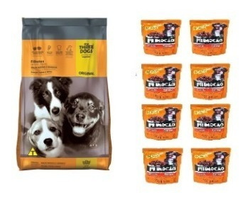 Imagen 1 de 1 de Three Dogs Premium Especial Cachorro 15k+8 Sachetsr+envio