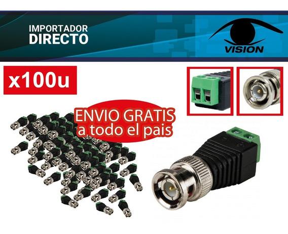Conector Tipo Balun -bnc Macho Y Bornera - Cctv Camara X100u