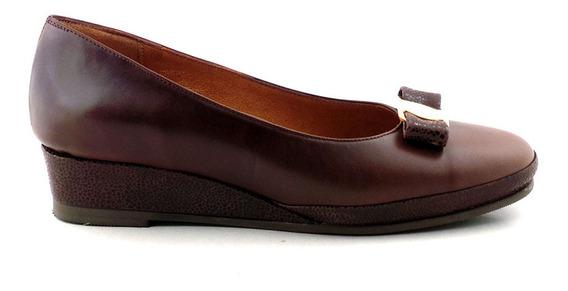 Chatita Cuero Mujer Briganti Zapato Base Goma Mccha2904 Vh
