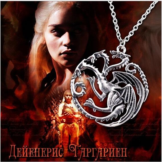 Colar Dragão Daenerys Targaryen Game Of Thrones