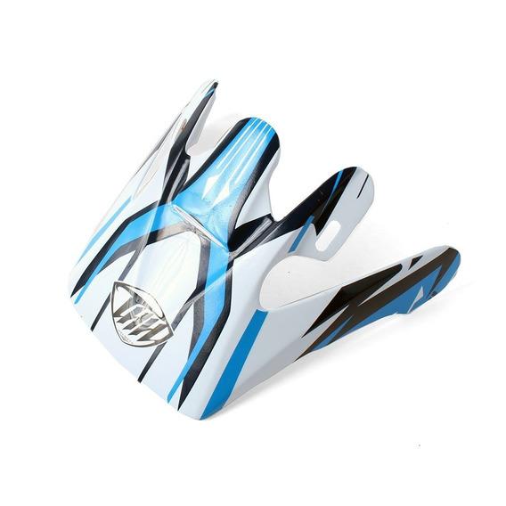 Pala Para Capacete Thh Tx-10 #3 - Branco E Azul