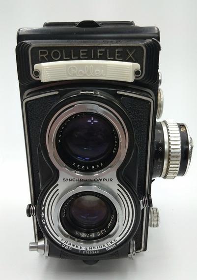 Câmera Rolleiflex Com Roleiking 35mm