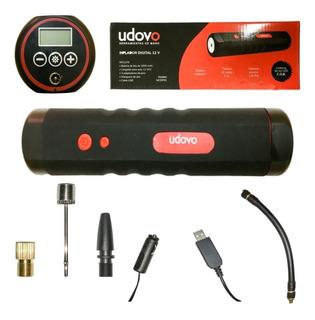 Inflador Digital Udovo 12v Usb Para Auto, Moto Y Bici