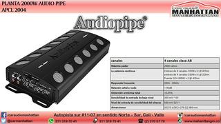 Amplificador, Planta 2000w Audiopipe Apcl 2004
