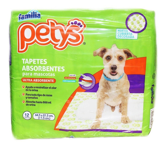 Tapetes Absorbentes Petys Mascotas X 12und
