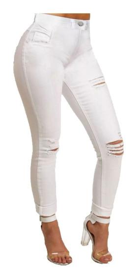 Calça Jeans Cintura Alta Roupa Feminina Dins Bumbum Ref 53f