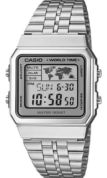 Relógio Casio Vintage Digital (mapa) - A500wa-7df Com Caixa