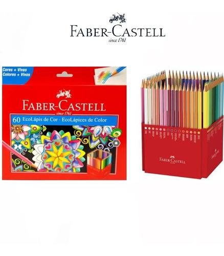 Lápis Faber Castel Caixa C/60 Cores Modelo Novo 'oferta'