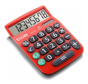 Calculadora De Mesa 8 Digitos Vermelha Mv-4131 Elgin 23875