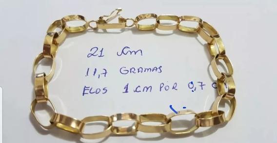 Pulseira Ouro 18k Com 11.7 Gramas