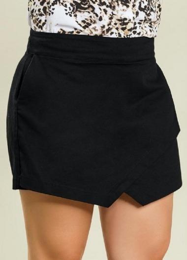 Shorts Saia Feminino Plus Size Sarja Roupas Femininas