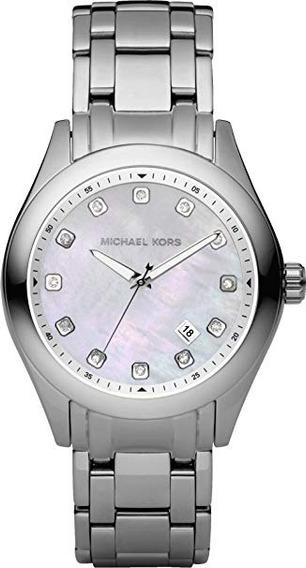 Michael Kors Plateado Con Cristal En Numerales. Mk5325