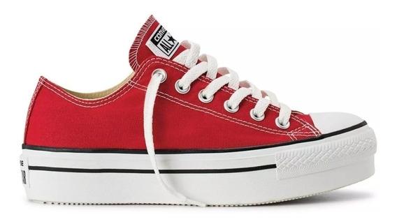 Zapatillas Converse Ct All Star Plataforma Negro Blanco Rojo