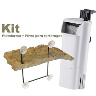 Kit Filtro Sunsun Hn-011 350l\h + Turtle Dock Td-10 Zoomed