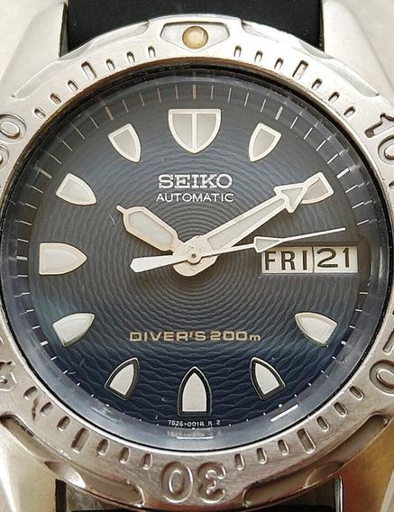 Relógio Seiko Diver 7s26-0010 07-1997 Perfeito Funcion Lindo