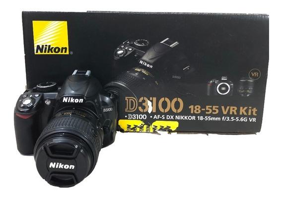 Camera Nikon D3100 Kit 18-55mm Usada C/ Garantia