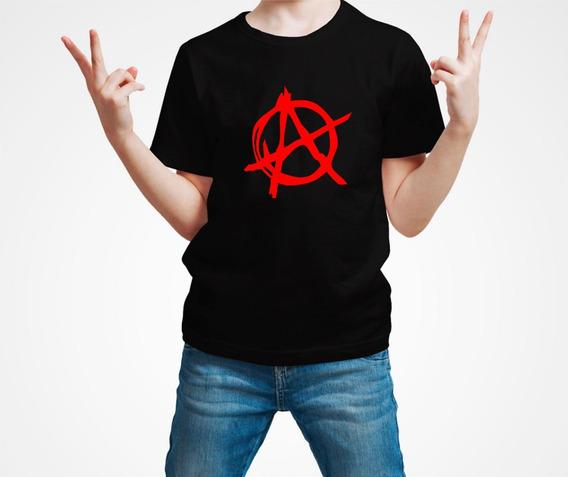 Playera Anarchy Anarquia Punk Niño 1 Pza