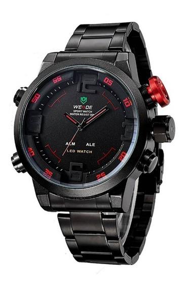 Reloj Para Hombre Weide Wh2309b Original Analógico