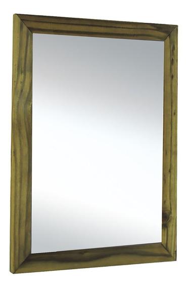 Espelho Banheiro Lavabo Quarto Sala Madeira Vintage Rustico