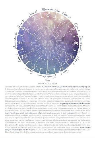 Imagem 1 de 3 de Mapa Astral Ilustrado Em Pdf Para Imprimir Astrologia