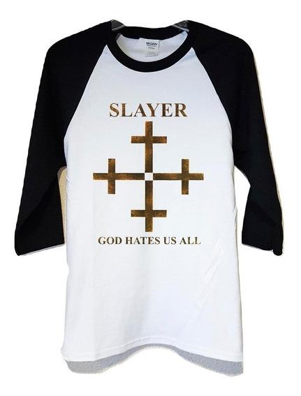 Slayer God Hates Us All Polera 3/4 Punk Abominatron