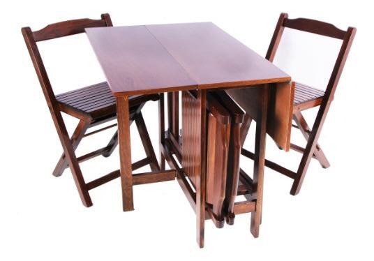 Conjunto Mesa Quadrada Dobrável Prática Com 4 Cadeiras