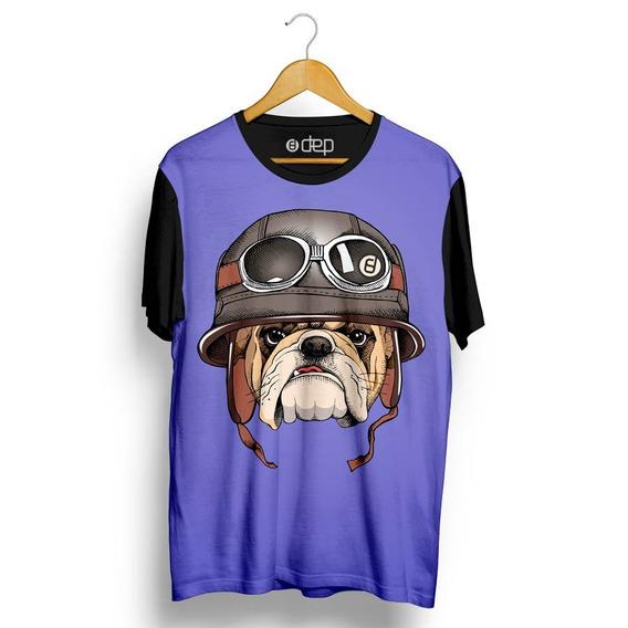 Camiseta Dep Bulldog De Capacete Roxo Original