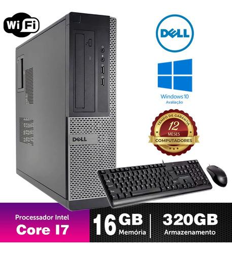 Cpu Barato Dell Optiplex Int I7 2g 16gb 320gb Brinde