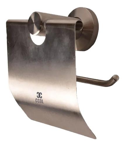 Porta Rollo Con Cubrerollo Inox 304 Acabado Satinado Baño