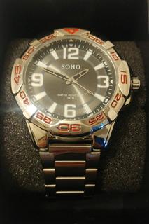Reloj Soho Deportivo Nuevo Sumergible Hombre 375 Analogico
