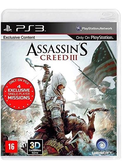 Jogo Assassins Creed 3 Ps3 Midia Fisica