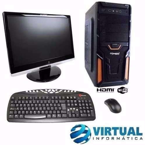 Pc Completo Gamer Cpu Intel Core I5 ,16gb, Gtx 1050, Lcd 19