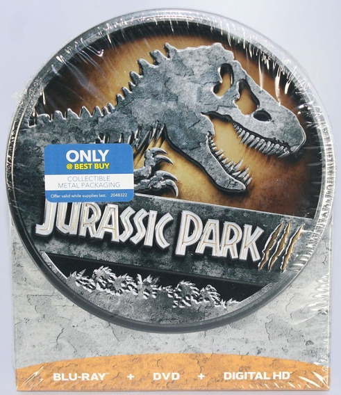 Jurassic Park 3 Limited Ed. Steelbook (blu-ray / Dvd / Digit