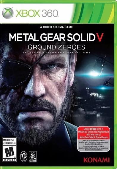 Metal Gear Solid V Ground Zeroes P Xbox 360 Original - Usado