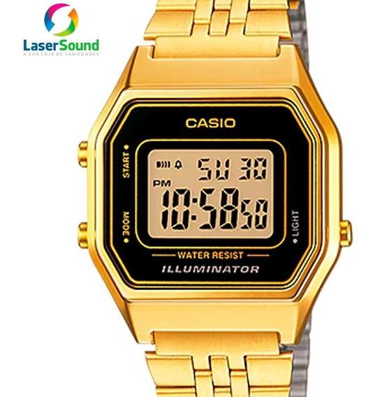 Relógio Casio Feminino Digital Vintage Dourado Original + Nf