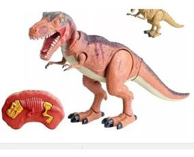 Dinossauro Jurassic Luz Som Movimento Cont.remoto Vermelho